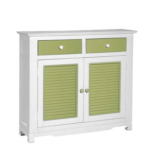 Lime Green and White Console