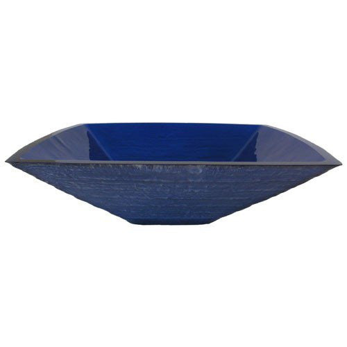 Dark Blue frosted Glass Sink