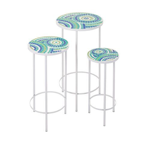 Set of Three Mosaic Tables