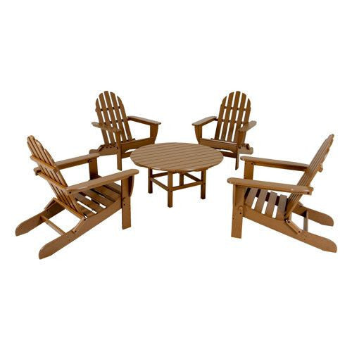 Five Piece No Maintenance Adirondack Seating Set