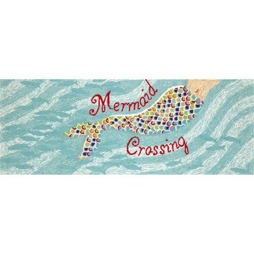 Mermaid Crossing Front Porch Rug 2'3