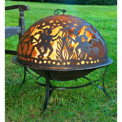Starry Night Faux Copper Fire Pit