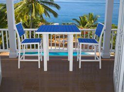 Pollywood Blue and White Outdoor Table for Two