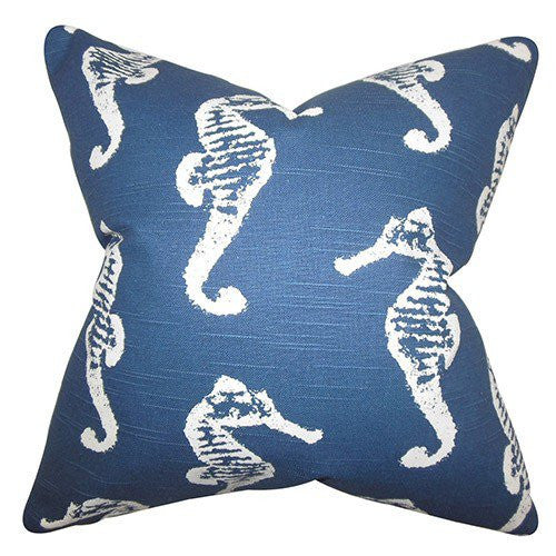 Sea Horse Pillow Navy