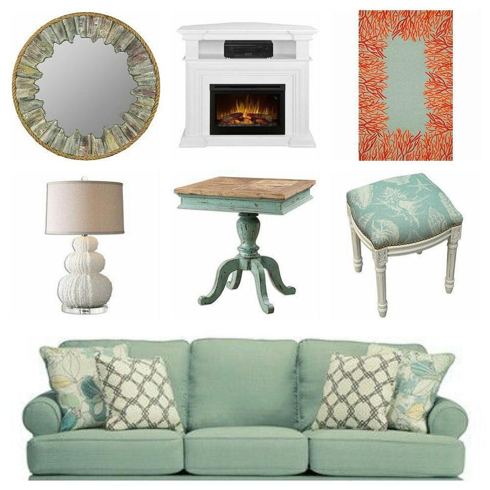 Seafoam Instant Den Guest Room with 5' x 7'6