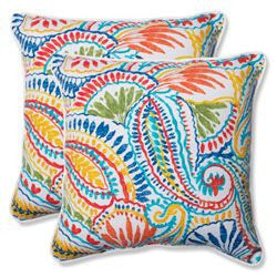 Set of Two Multicolored Outdoor Umi Pillows