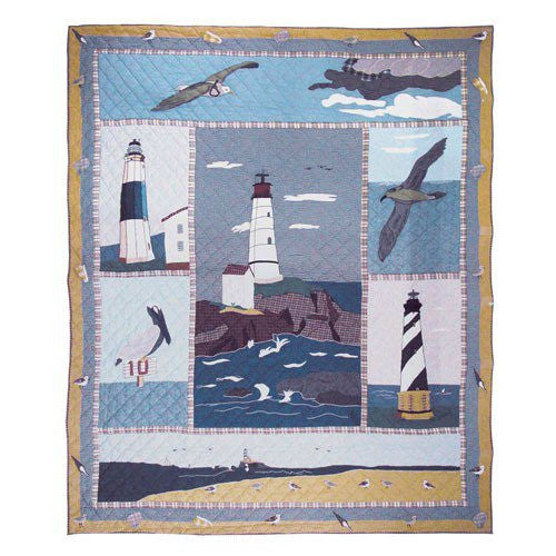 Quilted Lighthouse Duvet Cover - Queen