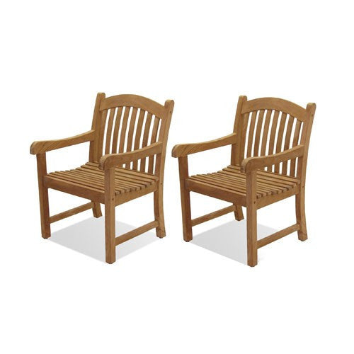 Set of Two Teak Arm Chairs
