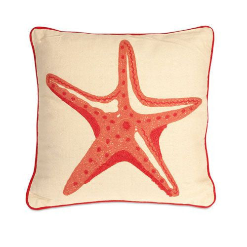 Orange Star Fish Pillow