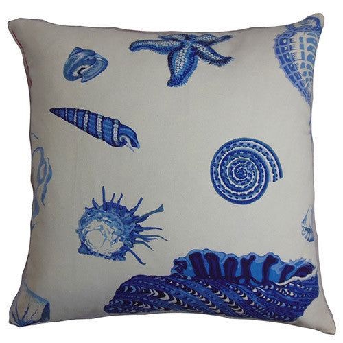Blue and White Coastal Throw Pillow