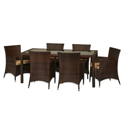 7 Piece All Weather Wicker Dining Set