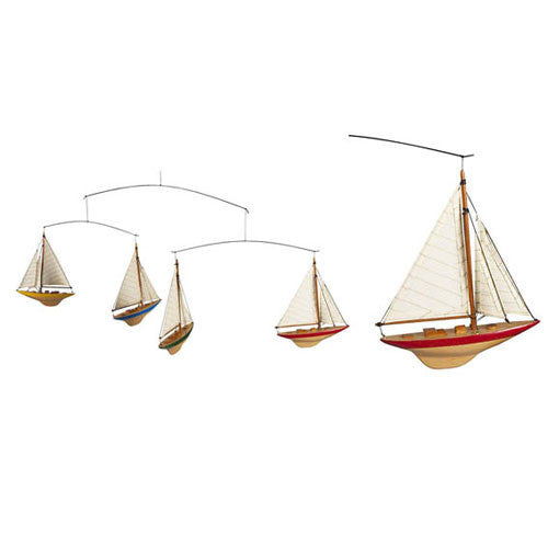 1930's A-Cup Sailboat Models Mobile