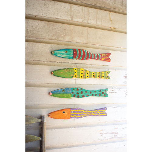 Recycled Wood Antique Fish Set