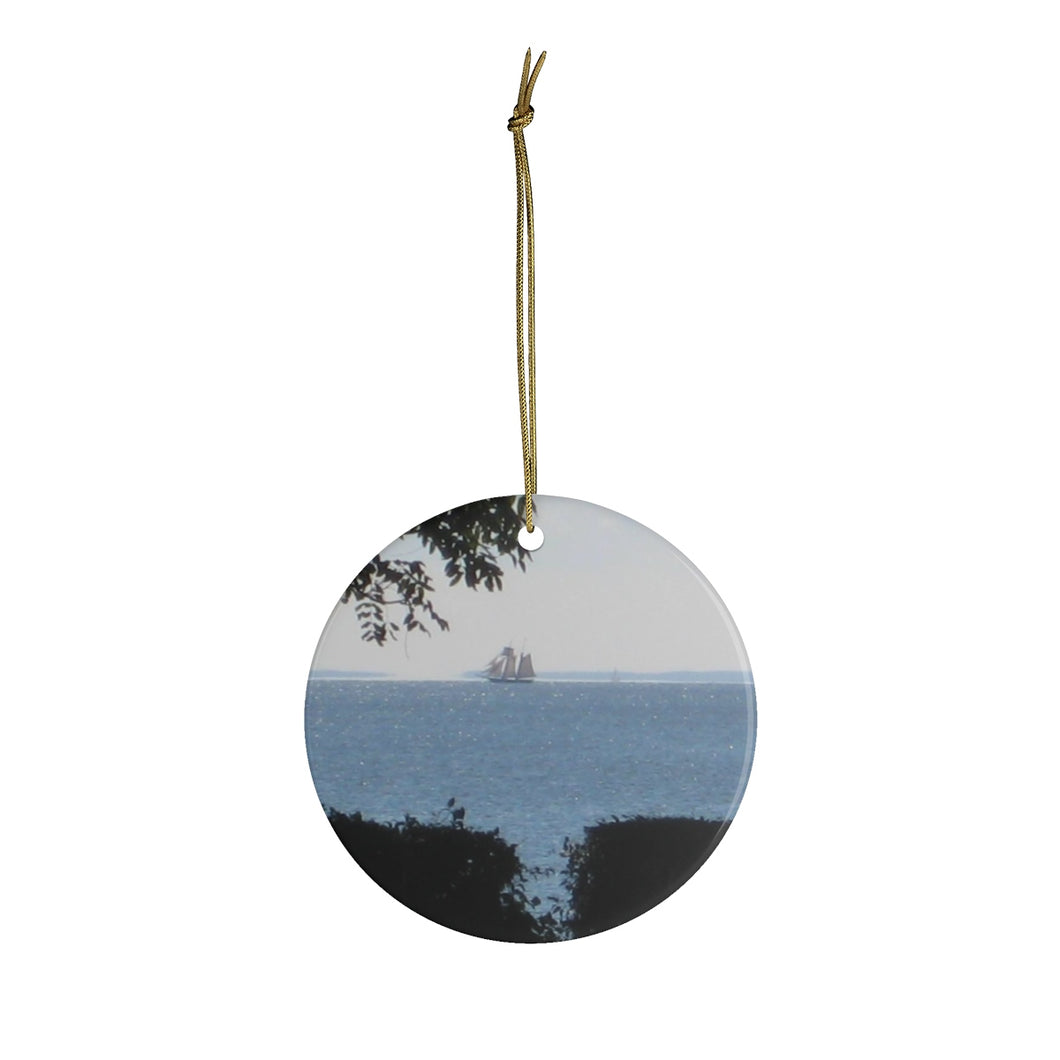 Tall Ship Ceramic Ornament