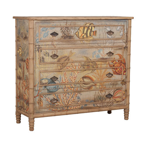 Sea Life Mahogany Chest