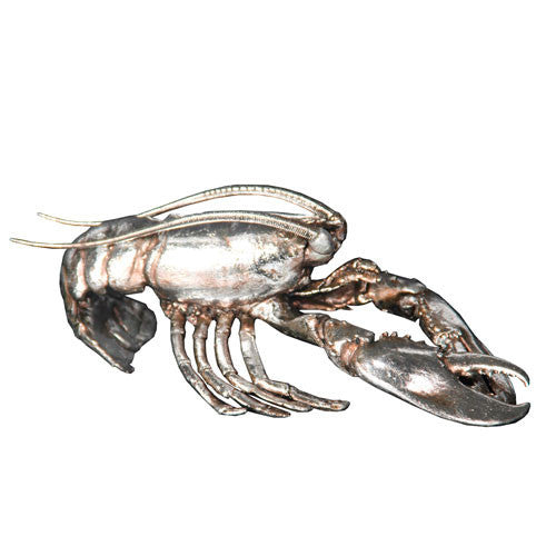 Silver Lobster Figurine