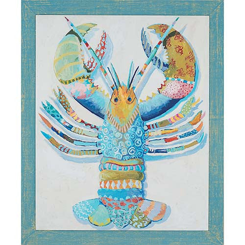 Patchwork Lobster Giclee