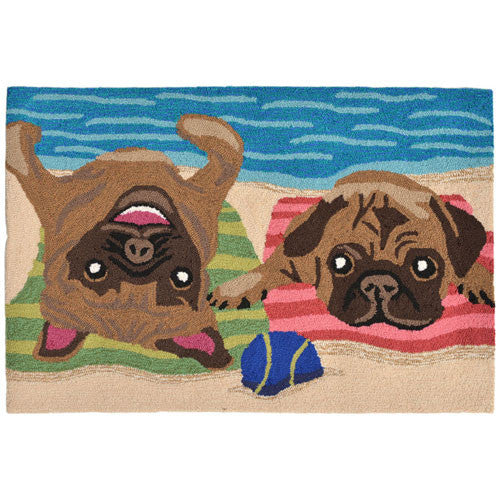 Front Porch Pugs Entrance Rug 2' x 3'