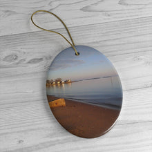 Limewood Avenue Beach Ceramic Ornament