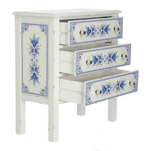Handpainted Blue and White Distressed Chest