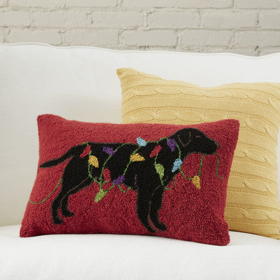 100% Wool Holiday Mischief Pillow