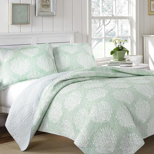 Coral Coast Quilt Set Full Queen