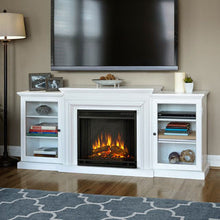 Pier Bookcase Media Electric Fireplace