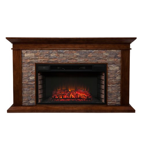 Stone Surround Electric Fireplace - Two Finishes