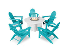 Vineyard Adirondack Seating Set with Fire Pit