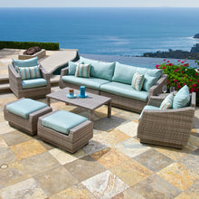 8 Piece Deep Seating Group with Sunbrella Cushions 10 Colors