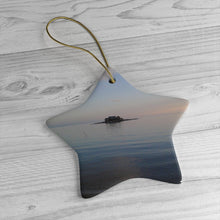 Green's Island at Dusk Ceramic Ornament
