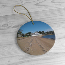 Limewood Avenue Beach 3 Ceramic Ornament