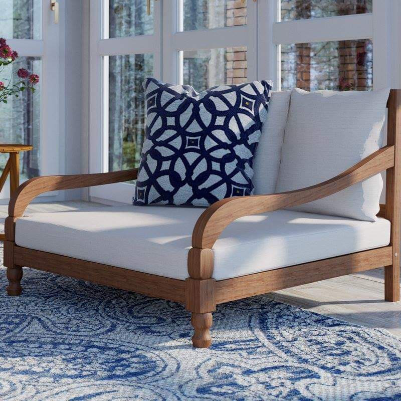 Outdoor Daybed with Cushions