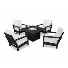 Five Piece Deep Seating Outdoor Fire Pit Set