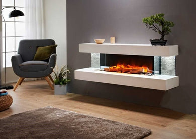 European Wall Mount Floating Electric Fireplace