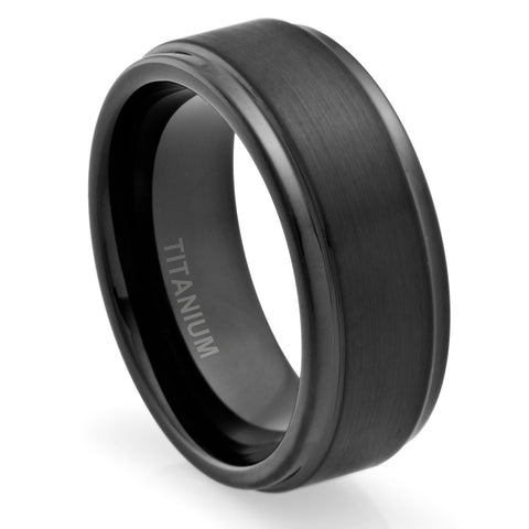 mens-wedding-band-in-titanium-8mm-ring-black-plated-brushed-top-and-grooved-polished-edges-AA4612508-1
