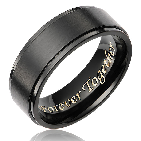 mens-wedding-band-in-titanium-8mm-black-plated-ring-engraved-forever-together-AA4612607-1