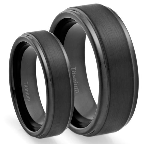 Yuno 8MM/6MM Wedding Band Set