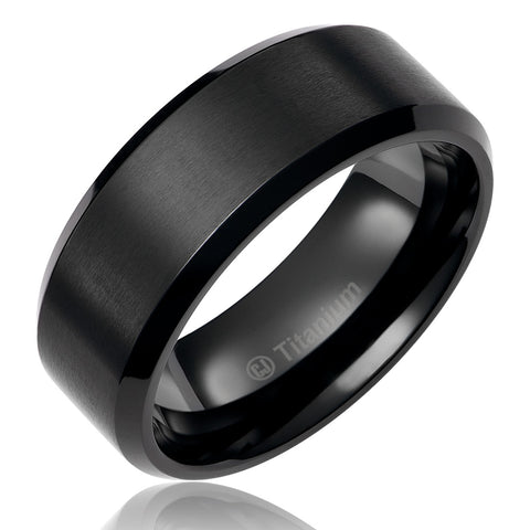 mens-wedding-band-in-titanium-8mm-promise-engagement-ring-black-plated-brushed-top-and-polished-edges-AA4612536-1