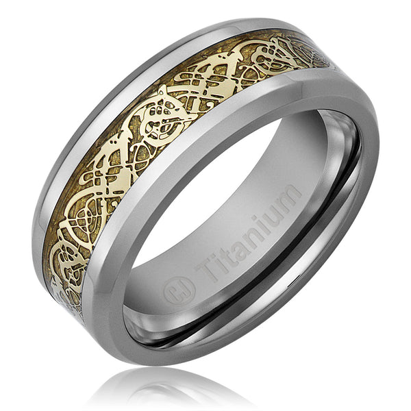 mens-wedding-band-in-titanium-8mm-promise-engagement-ring-gold-plated-celtic-dragon-design-AA4612542-1