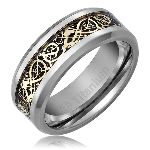 mens-wedding-band-in-titanium-8mm-promise-engagement-ring-gold-plated-celtic-dragon-design-AA4612544-1