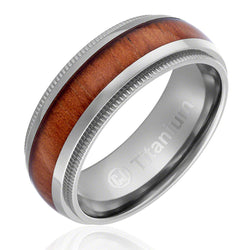 mens-wedding-band-in-titanium-8mm-promise-engagement-ring-with-wood-inlay-domed-top-and-milgrain-edges-AA4612563-1