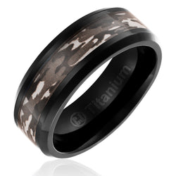 mens-camo-wedding-band-in-titanium-8mm-ring-black-plated-with-brown-military-camouflage-inlay-beveled-edges-AA4612584-1