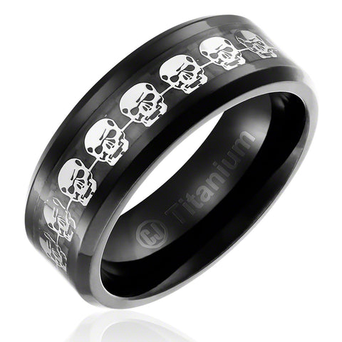 mens-skulls-wedding-band-in-titanium-8mm-ring-black-plated-with-skulls-inlay-beveled-edges-AA4612585-1