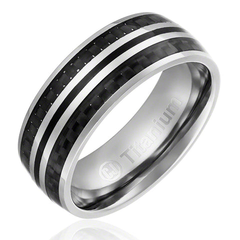 mens-wedding-band-in-titanium-8mm-engagement-ring-with-black-carbon-fiber-inlay-domed-top-AA4612589-1