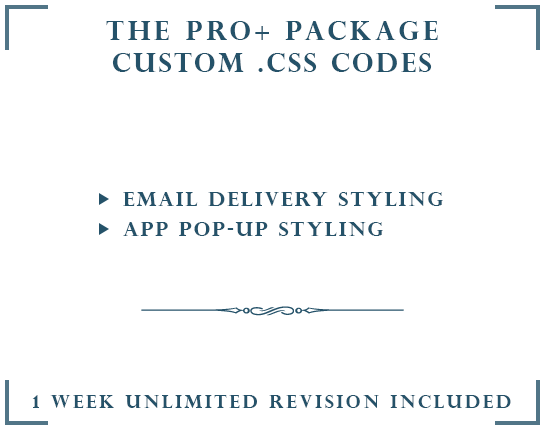 DROP A HINT CUSTOM .CSS | THE PRO+ PACKAGE
