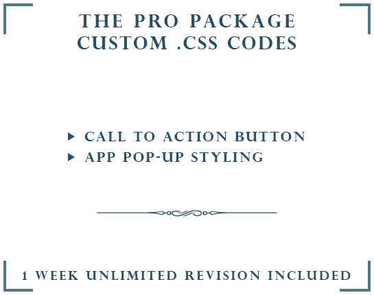 DROP A HINT CUSTOM .CSS | THE PRO PACKAGE