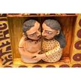 El Beso / Ceramics Mexican Folk Art Clay Frame