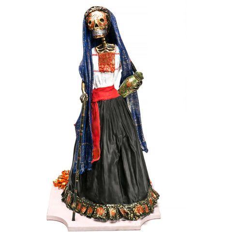 Catrina Tlaxcalteca / Mexican Folk Art Carton Sculpture