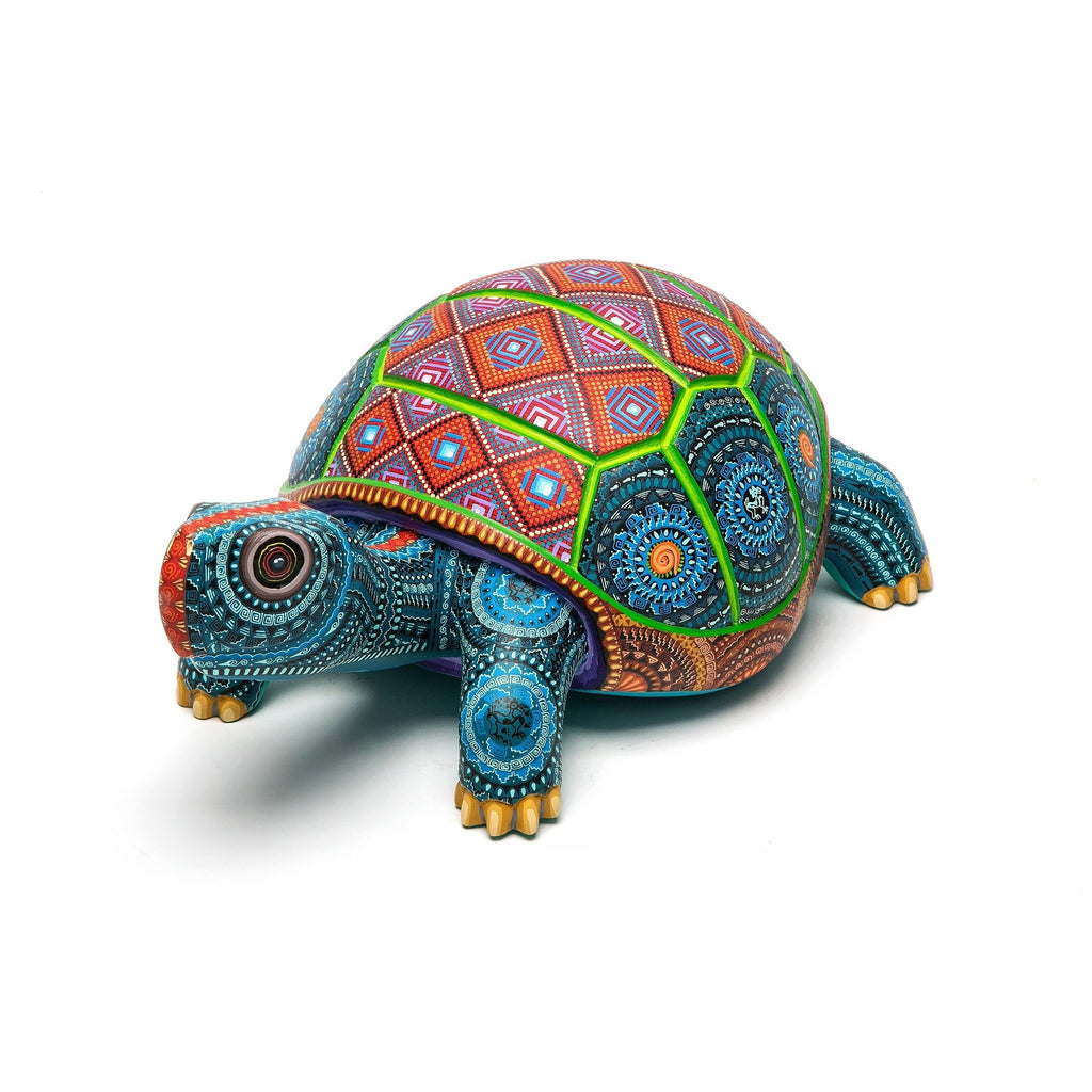 Tortuga Lomo de Diamante / Woodcarving Alebrije Mexican Folk Art Sculpture